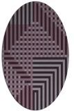 rug #1296219 | oval purple check rug
