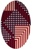 rug #1296223 | oval red graphic rug