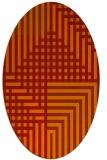 rug #1296230 | oval check rug