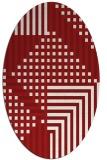 rug #1296233 | oval check rug