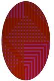 rug #1296235 | oval red check rug