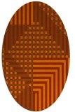 rug #1296239 | oval red-orange check rug