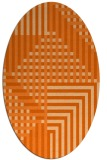 rug #1296243 | oval red-orange check rug