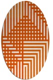 rug #1296251 | oval red-orange check rug