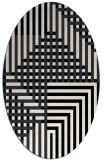 rug #1296255 | oval white stripes rug