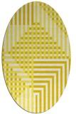 rug #1296259 | oval white check rug