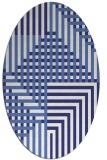 rug #1296263 | oval blue check rug