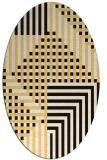 rug #1296267   oval brown check rug