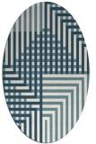 rug #1296275 | oval white check rug