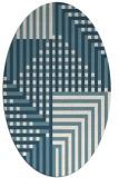 rug #1296276 | oval check rug