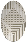 rug #1296279 | oval white check rug