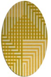 rug #1296283 | oval yellow check rug