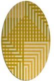 rug #1296283 | oval yellow rug