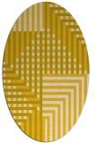 rug #1296284 | oval check rug