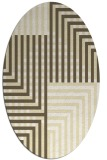rug #1296287 | oval white check rug