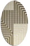 rug #1296287 | oval yellow retro rug