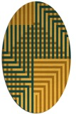 rug #1296295 | oval yellow check rug