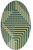 rug #1296299 | oval yellow check rug