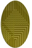 rug #1296303 | oval light-green check rug