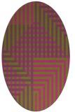 rug #1296311 | oval pink retro rug