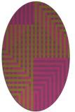 rug #1296314 | oval check rug