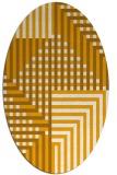 rug #1296319 | oval light-orange check rug