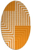 rug #1296323 | oval light-orange stripes rug