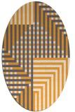 rug #1296327 | oval light-orange check rug