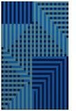 rug #1296363 |  blue check rug