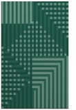 rug #1296387 |  blue-green stripes rug