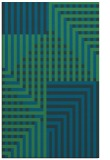 rug #1296395 |  blue-green check rug