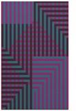 rug #1296411 |  blue-green stripes rug