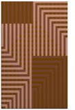 rug #1296483 |  mid-brown graphic rug
