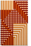 rug #1296547 |  orange check rug