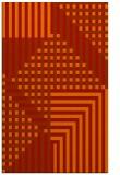 rug #1296595 |  orange check rug