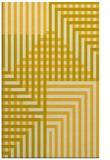 rug #1296651 |  yellow check rug