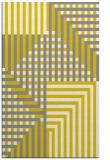 rug #1296659 |  yellow graphic rug