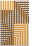 rug #1296695 |  light-orange check rug