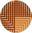 rug #1296699 | round orange check rug