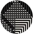 rug #1296703 | round white check rug