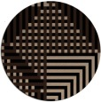rug #1296711 | round black graphic rug