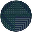 rug #1296739 | round blue retro rug