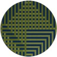 rug #1296743 | round green check rug