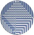 rug #1296747 | round blue check rug