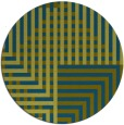 rug #1296775 | round green check rug