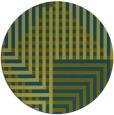 rug #1296775 | round blue-green check rug