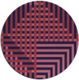 rug #1296791 | round pink retro rug
