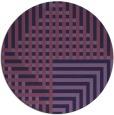 rug #1296795 | round purple check rug