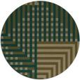 rug #1296811 | round mid-brown stripes rug