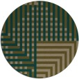 rug #1296811 | round mid-brown retro rug